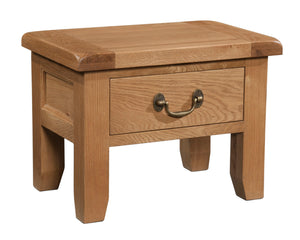 Salcombe Oak Side Table With Drawer