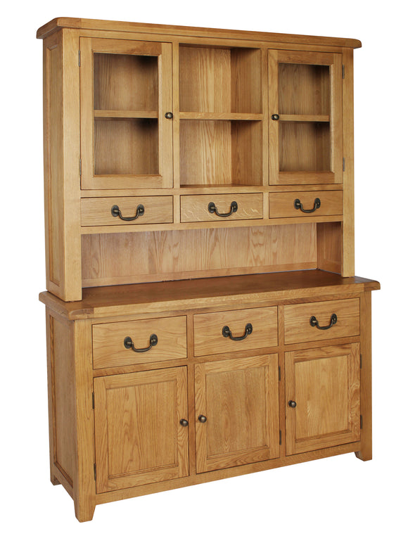 Salcombe Oak Large Dresser Complete - What Nots Online