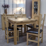 Midhurst Oak Small Draw Leaf Extending Table