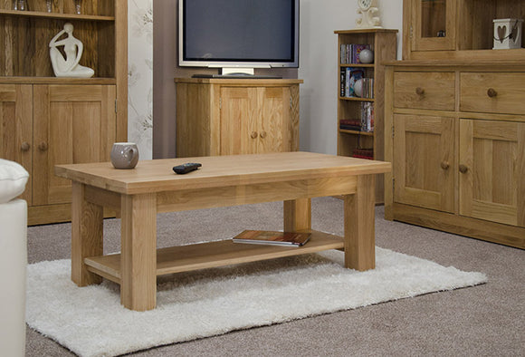 Fernhurst Oak Wide Rectangular Coffee Table