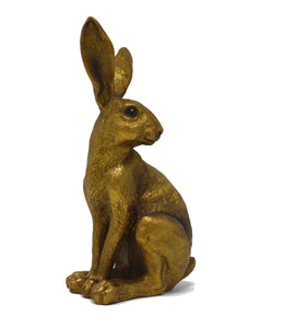 Bronzed Sitting Hare Figurine - What Nots Online