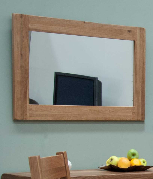 Country Rustic Oak Rustic Wall Mirror