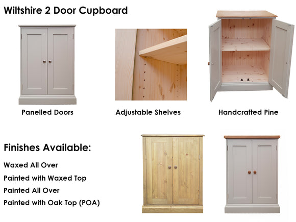 Wiltshire Made To Order Cupboards (choose size & finish)