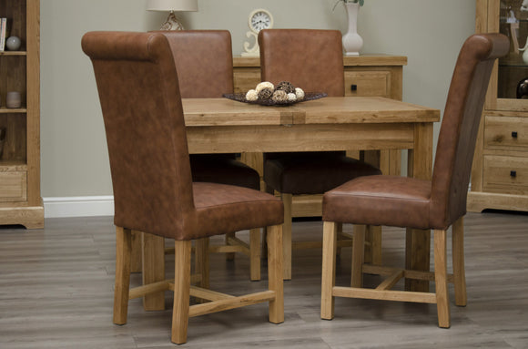 Easebourne Rustic Oak Small Extending Table