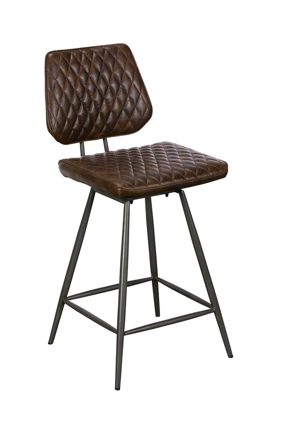 Delta Swivel Bar Stool Brown