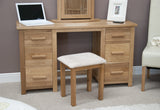 Midhurst Double Pedestal Dressing Table with Stool