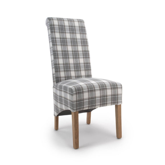 Roll Back Chair - Herringbone Check - What Nots Online