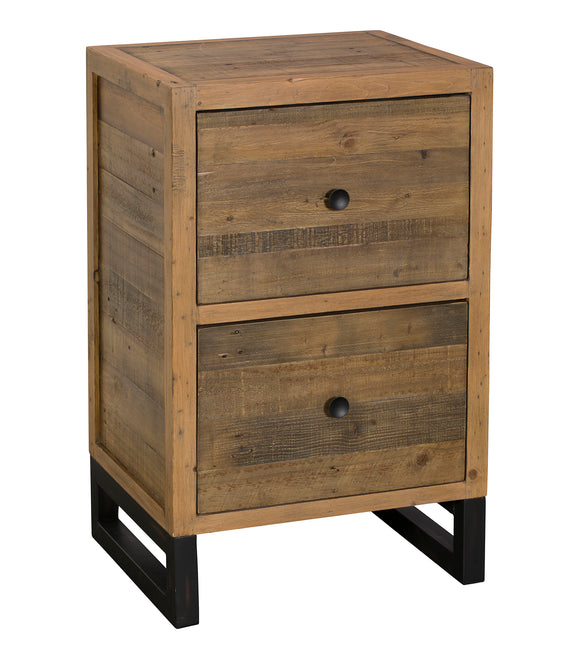 Quayside Reclaimed Furniture 2 Drawer Filing Cabinet