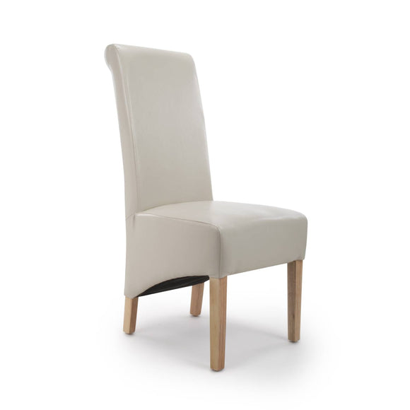 Roll Back Chair - Bonded Leather Ivory