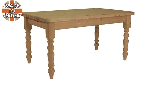 Nottingham Farmhouse Fixed Top Dining Table Waxed / 4Ft Wide X 3Ft Deep Furniture