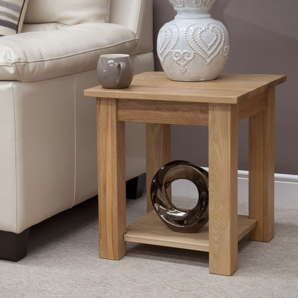 Midhurst Oak Petite Lamp Table
