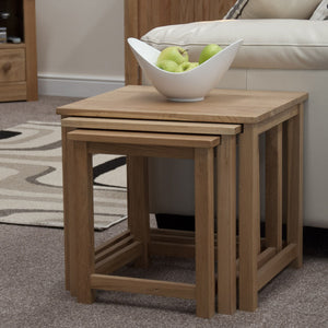 Midhurst Oak Petite Nest of Tables