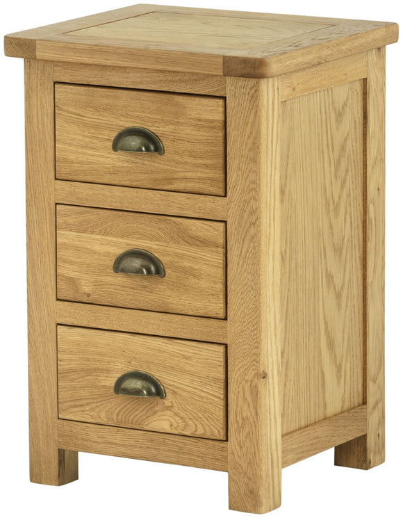 Lulworth Oak Furniture Bedside Cabinet