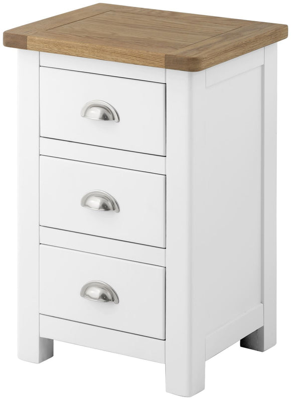 Lulworth Painted & Oak Bedside Cabinet