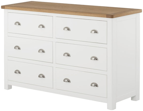 Lulworth Painted & Oak 6 Drawer Chest