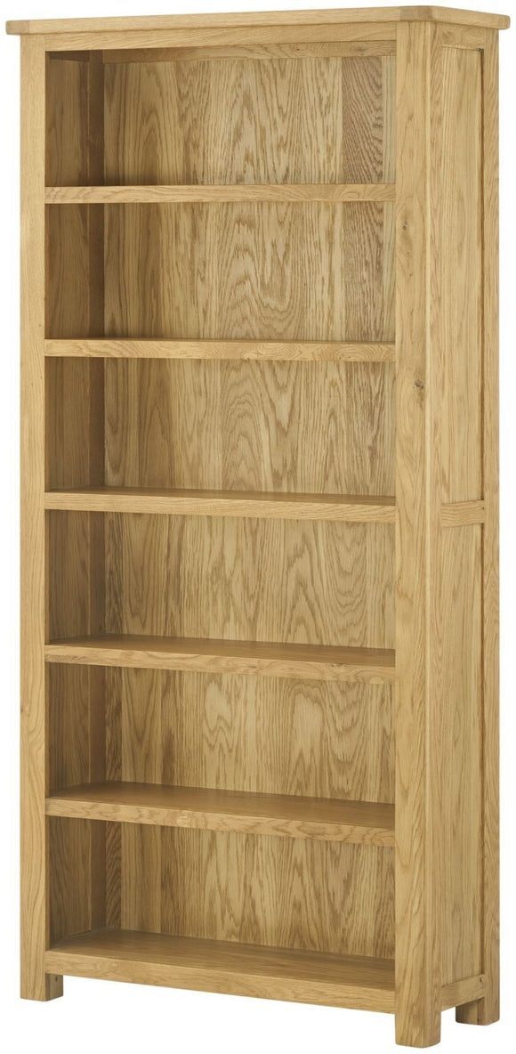 Lulworth Oak Furniture Large Bookcase
