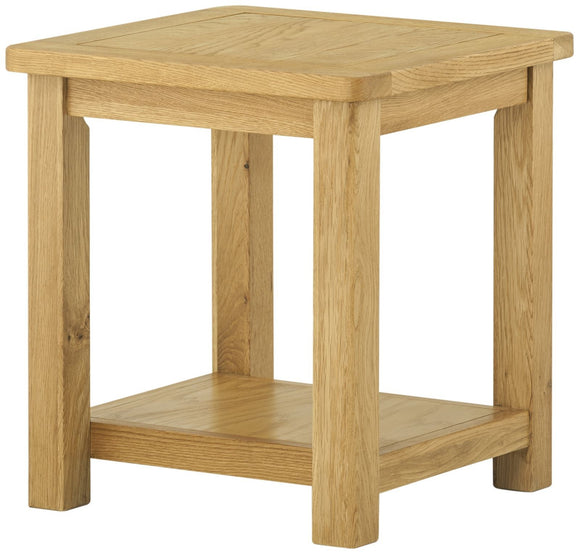 Lulworth Oak Furniture Lamp Table