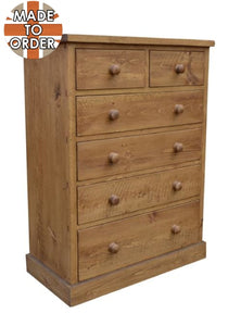 Sherwood Rustic Pine 2 Over 4 Chest of Drawers
