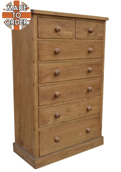 Sherwood Rustic Pine 2 Over 5 Chest of Drawers