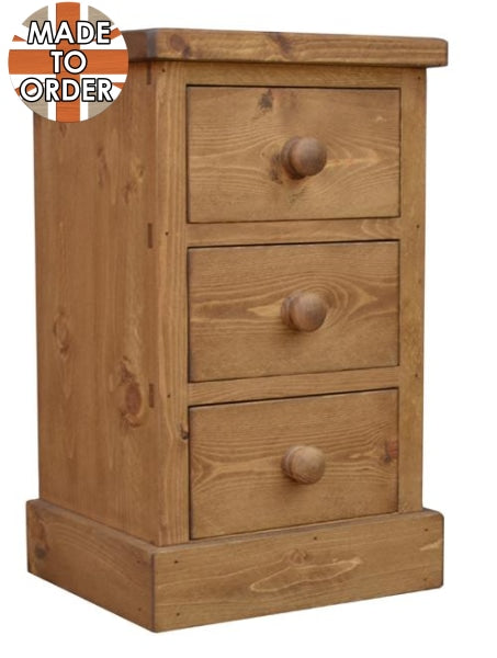 Sherwood Rustic Pine 3 Drawer Bedside