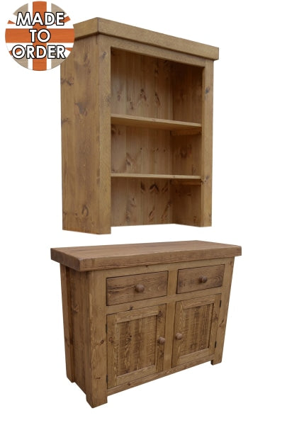 Sherwood Rustic Pine Butchers Block Dresser 3ft