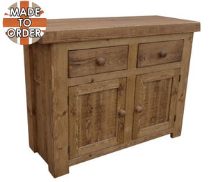 Sherwood Rustic Pine Butchers Block Sideboard 3ft