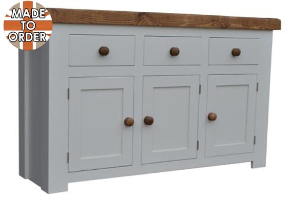 Sherwood Rustic Pine Butchers Block Sideboard 5ft