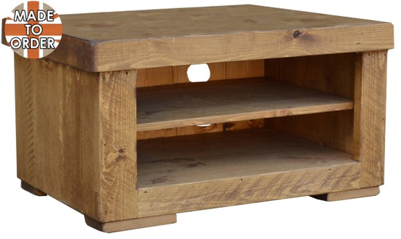 Sherwood Rustic Pine Butchers Block TV Unit 1 Bay
