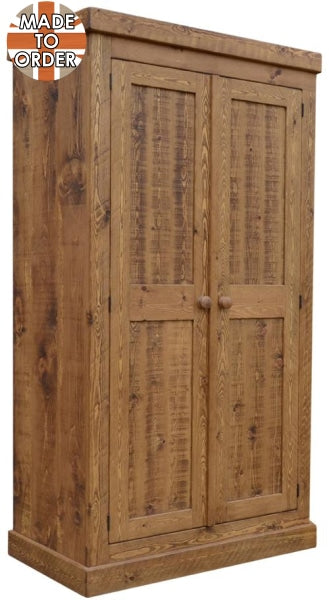 Sherwood Rustic Pine Double Wardrobe Full Hanging