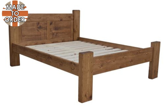 Sherwood Rustic Pine Panel Bed (multiple sizes)