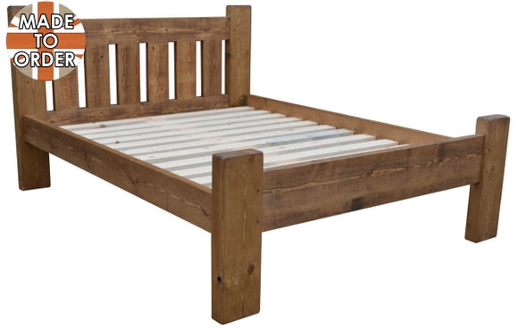 Sherwood Rustic Pine Plank Bed (multiple sizes)