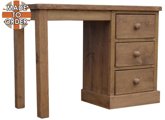 Sherwood Rustic Pine Single Ped Dressing Table