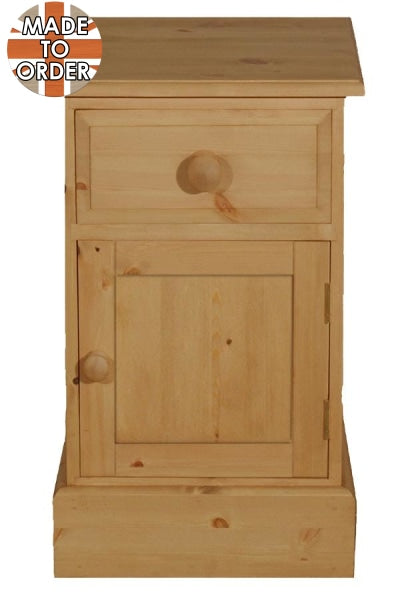 Wiltshire 1 Door Drawer Pot Cupboard Waxed Furniture