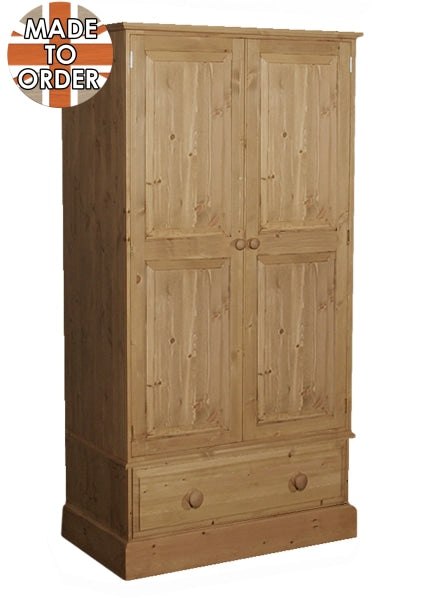 Wiltshire 1 Drawer Wardrobe Waxed Furniture