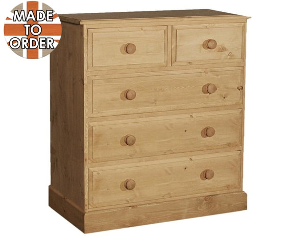 Wiltshire 2 Over 3 Chest Of Drawers Waxed Furniture