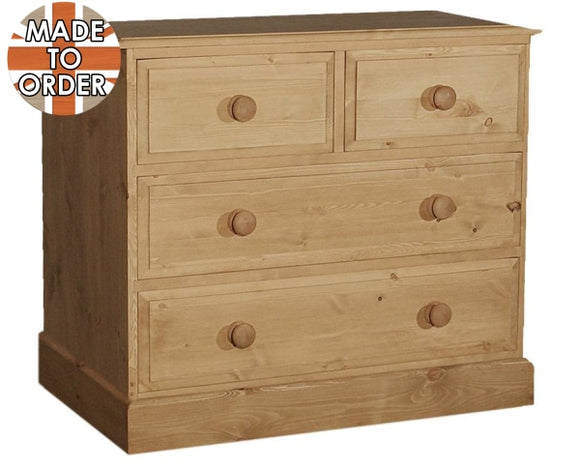 Wiltshire 2 Over Chest Of Drawers Waxed Furniture
