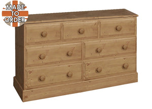 Wiltshire 3 Over 4 Wide Chest Waxed Furniture