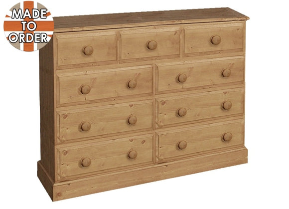 Wiltshire 3 Over 6 Wide Chest Waxed Furniture