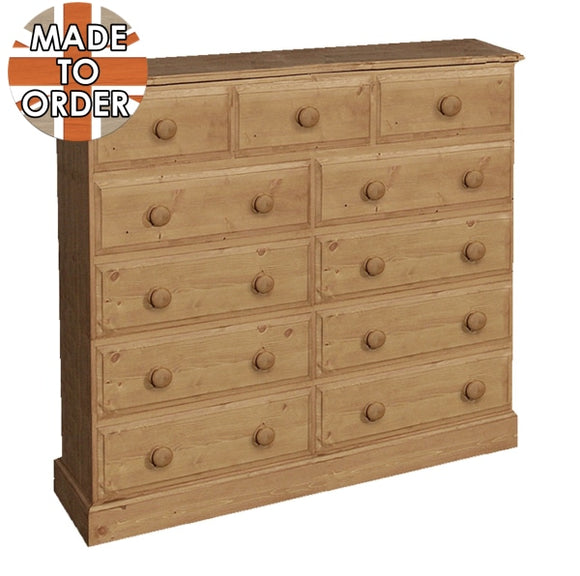 Wiltshire 3 Over 8 Wide Chest Waxed Furniture