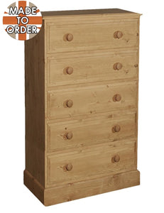 Wiltshire 5 Drawer Wellington Chest Waxed Furniture
