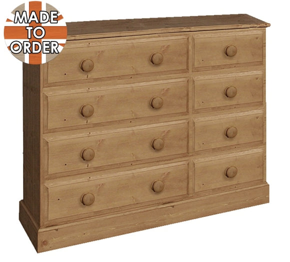 Wiltshire 8 Drawer Double Chest Waxed Furniture