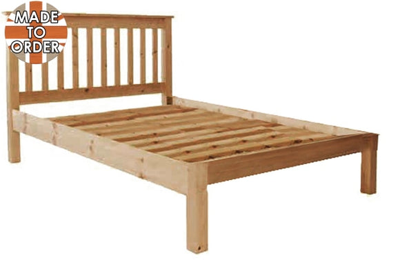 Wiltshire Double Bed Slatted Waxed Furniture
