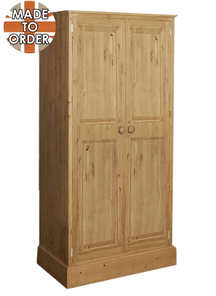 Wiltshire Full Hanging Wardrobe Waxed Furniture