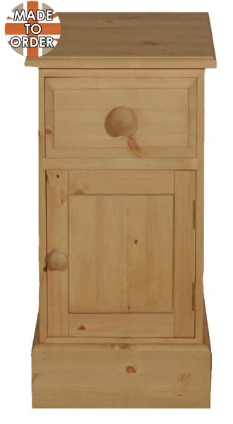 Wiltshire Mini 1 Door Pot Cupboard Waxed Furniture
