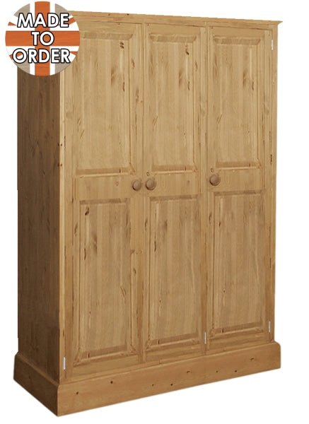 Wiltshire Triple Full Hanging Wardrobe Waxed Furniture