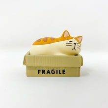 Load image into Gallery viewer, concombre Figurine Cat in a Box - MAIDO! Kairashi Shop