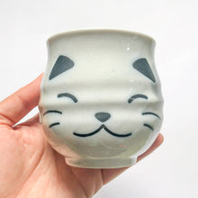 Load image into Gallery viewer, Miya White Calico Cat Sushi Cup - MAIDO! Kairashi Shop