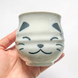 Miya White Calico Cat Sushi Cup - MAIDO! Kairashi Shop