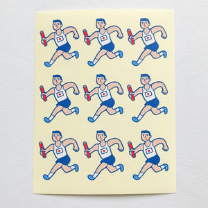HIGHTIDE Japanese Retro Relay Stickers - MAIDO! Kairashi Shop