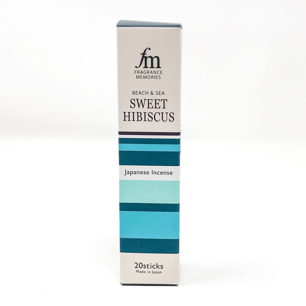 FRAGRANCE MEMORIES BEACH & SEA Sweet Hibiscus 20 sticks - MAIDO! Kairashi Shop